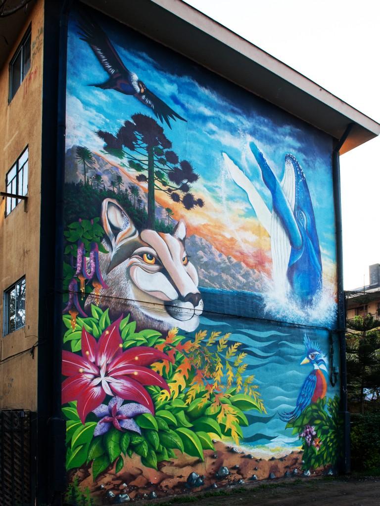 Se ales de vida museo a cielo abierto en san miguel for Mural metro u de chile